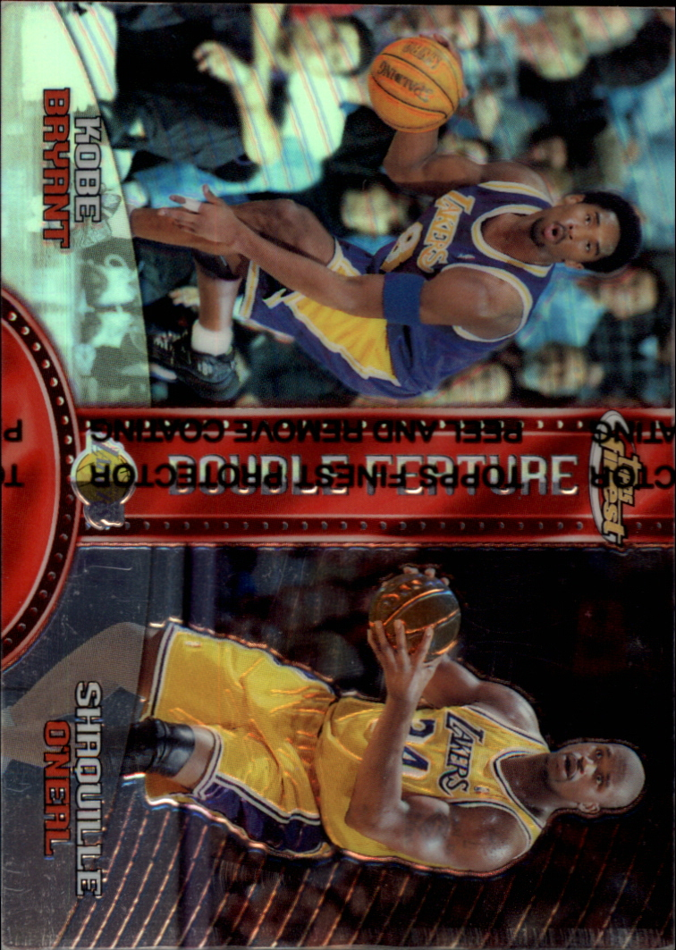 1999-00 Finest Double Feature Left Refractors #DF14 Kobe Bryant/Shaquille O'Neal