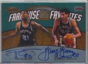 1999-00 Bowman's Best Franchise Favorites #FRA1C Tim Duncan AU/George Gervin AU