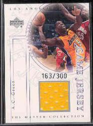 2000 Upper Deck Lakers Master Collection Game Jerseys #AGJ A.C. Green