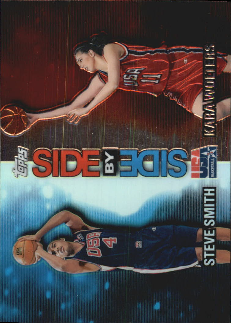 2000 Topps Team USA Side by Side #SS9 Steve Smith/Kara Wolters