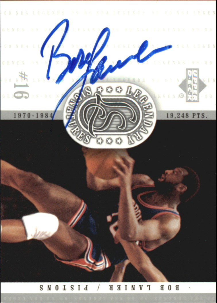 2000 Upper Deck Century Legends Legendary Signatures #BL Bob Lanier