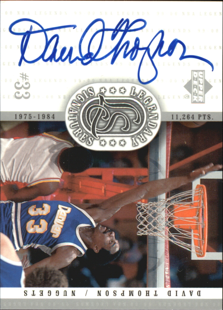 2000 Upper Deck Century Legends Legendary Signatures #DT David Thompson