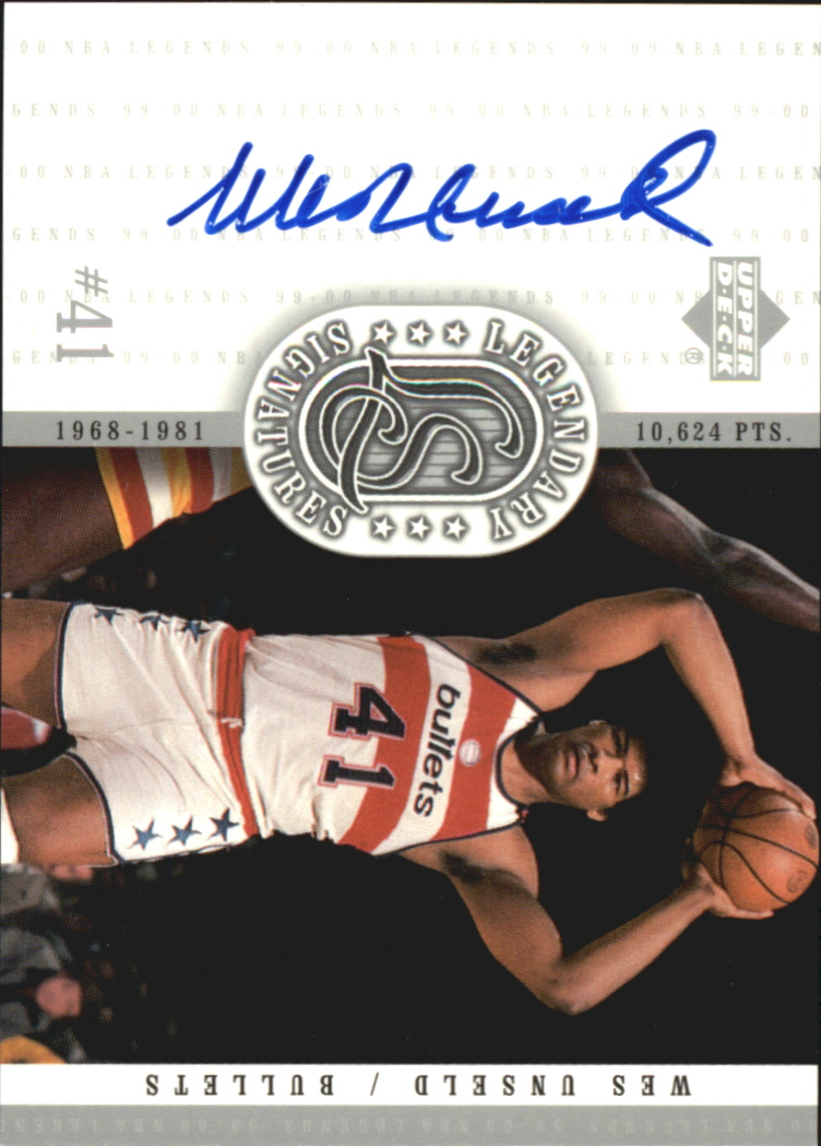2000 Upper Deck Century Legends Legendary Signatures #WU Wes Unseld