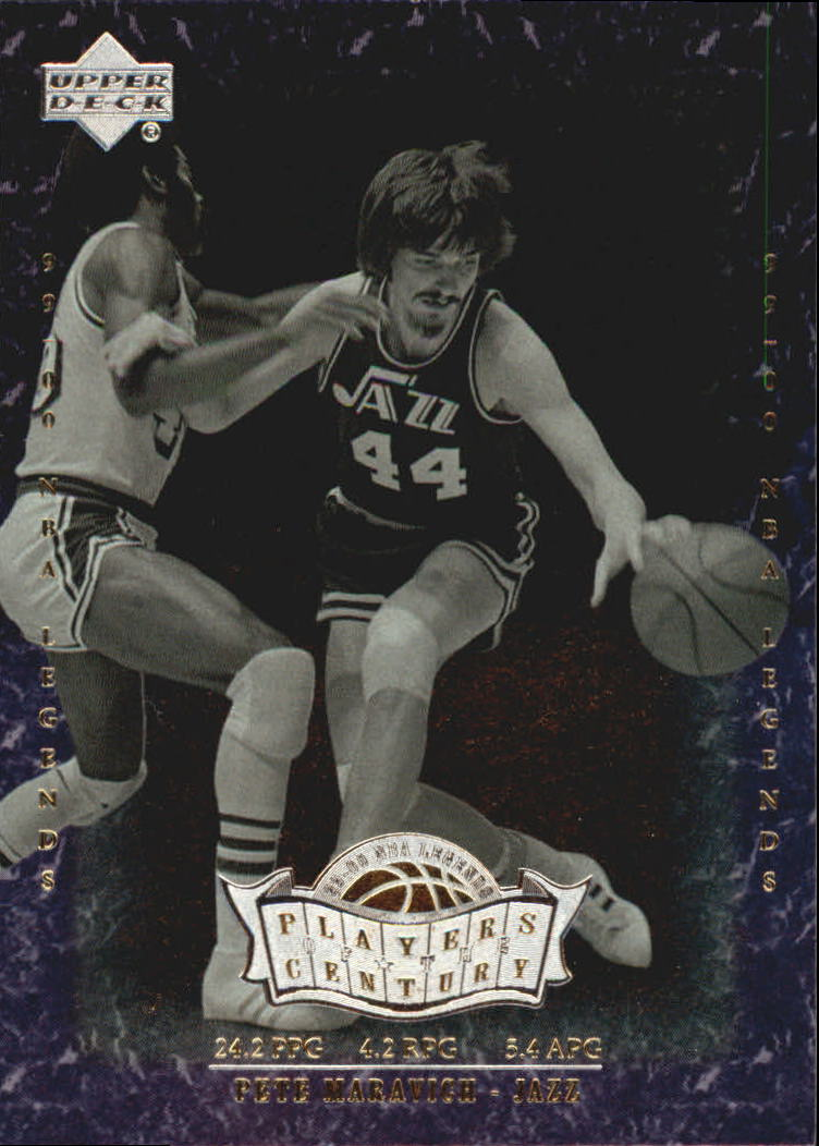 2000 Upper Deck Century Legends Players of the Century #P10 Pete Maravich front image