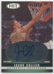 2000 SAGE HIT Autographs Emerald #50 Jason Collier