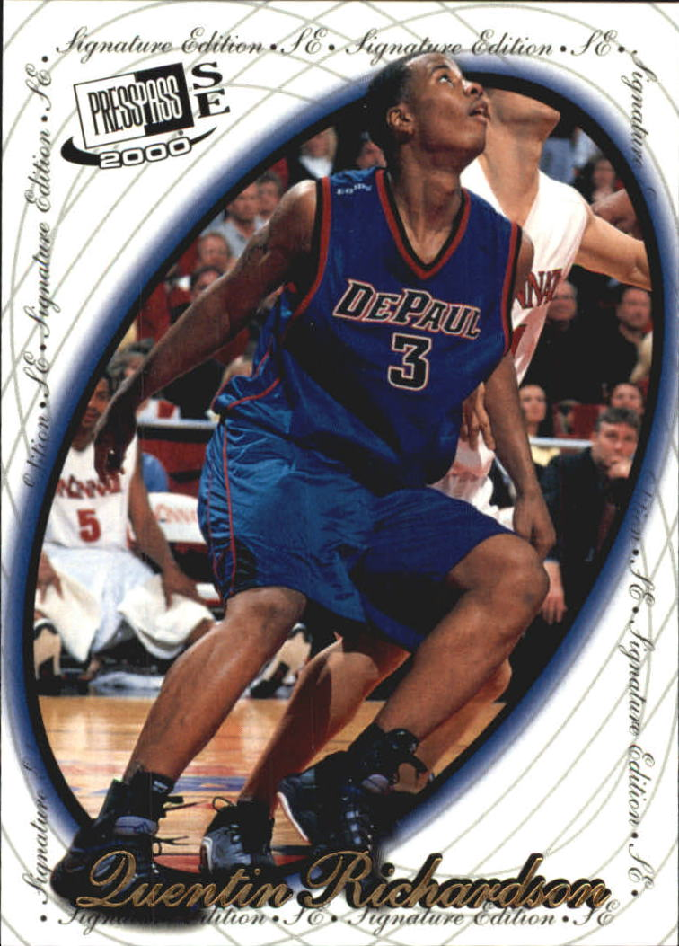 2000 Press Pass SE Alley Oop #10 Quentin Richardson