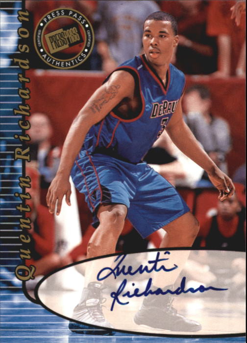 2000 Press Pass Autographs #26 Quentin Richardson