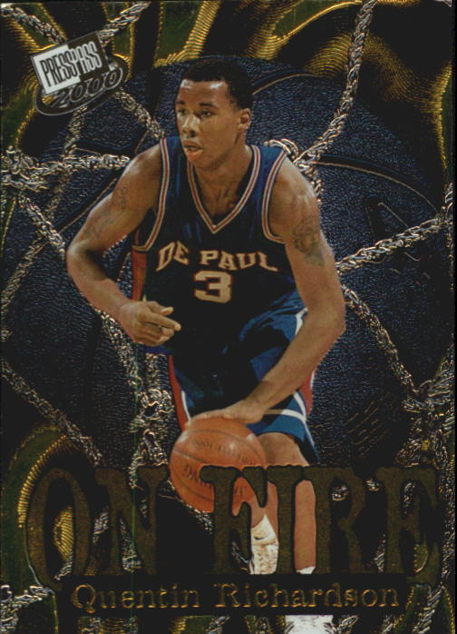 2000 Press Pass On Fire #OF4 Quentin Richardson