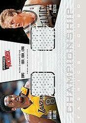 2000-01 Ultimate Victory Championship Fabrics #CFC1 Kobe Bryant/25/Larry Bird