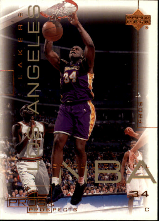 2000-01 Upper Deck Pros and Prospects #38 Shaquille O'Neal