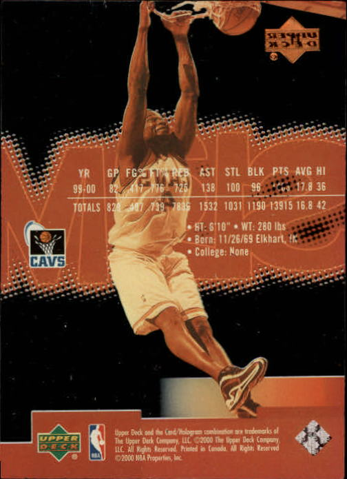 2000-01 Upper Deck Slam #11 Shawn Kemp back image
