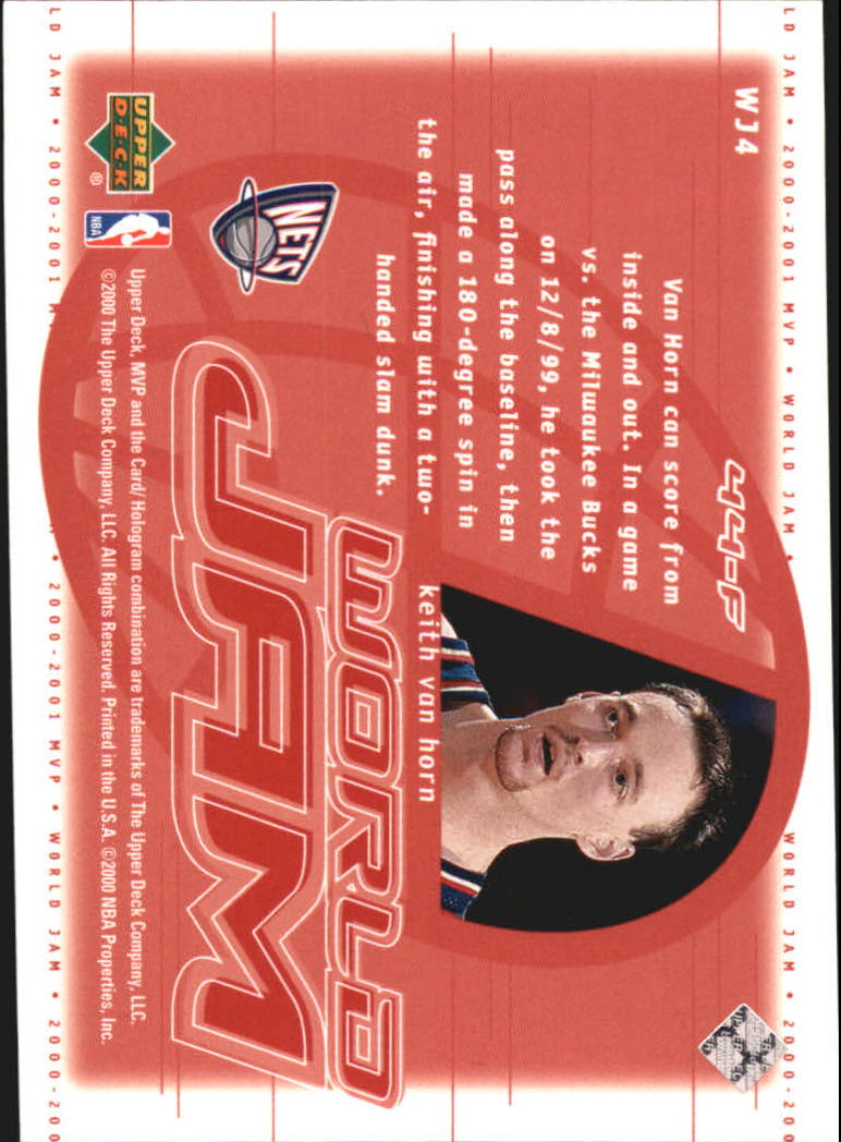2000-01 Upper Deck MVP World Jam #WJ4 Keith Van Horn back image