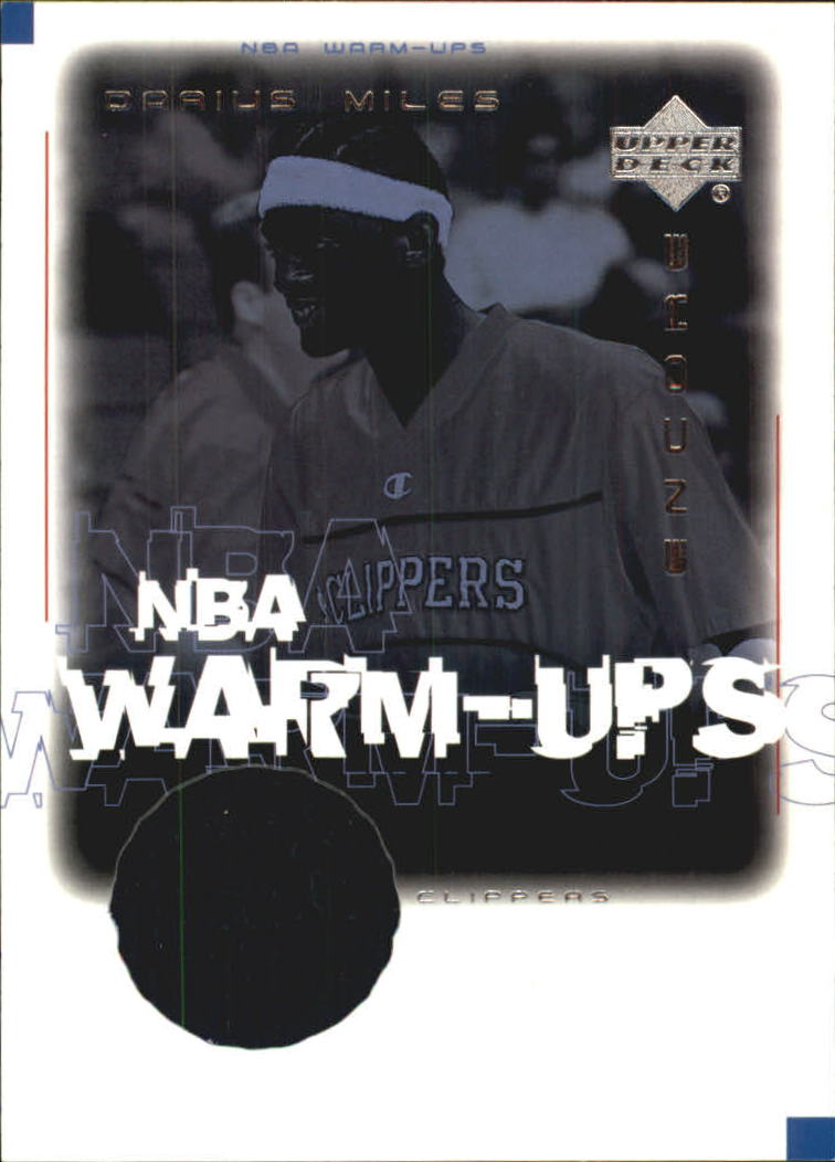 2000-01 Upper Deck Encore NBA Warm-Ups #DMW Darius Miles