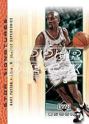 2000-01 Upper Deck Encore Star Signatures #GP Gary Payton