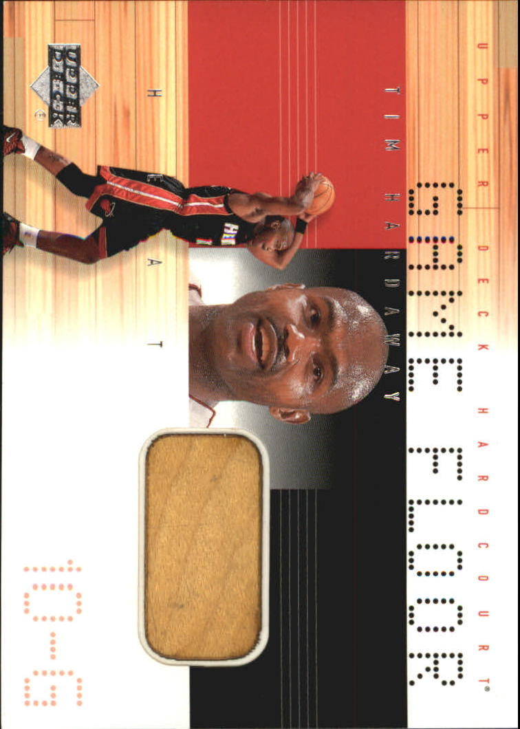 2000-01 Upper Deck Hardcourt Game Floor #THF Tim Hardaway