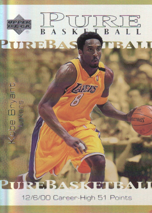 2000-01 Upper Deck Pure Basketball #PB4 Kobe Bryant