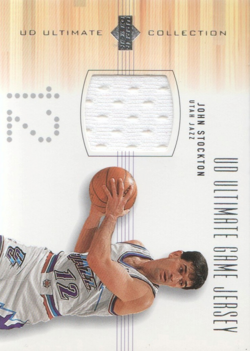 2000-01 Ultimate Collection Game Jerseys Silver #JSJ John Stockton