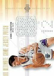 2000-01 Ultimate Collection Game Jerseys Patches #JSP John Stockton/100