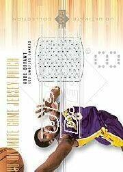 2000-01 Ultimate Collection Game Jerseys Patches #KBP Kobe Bryant/8