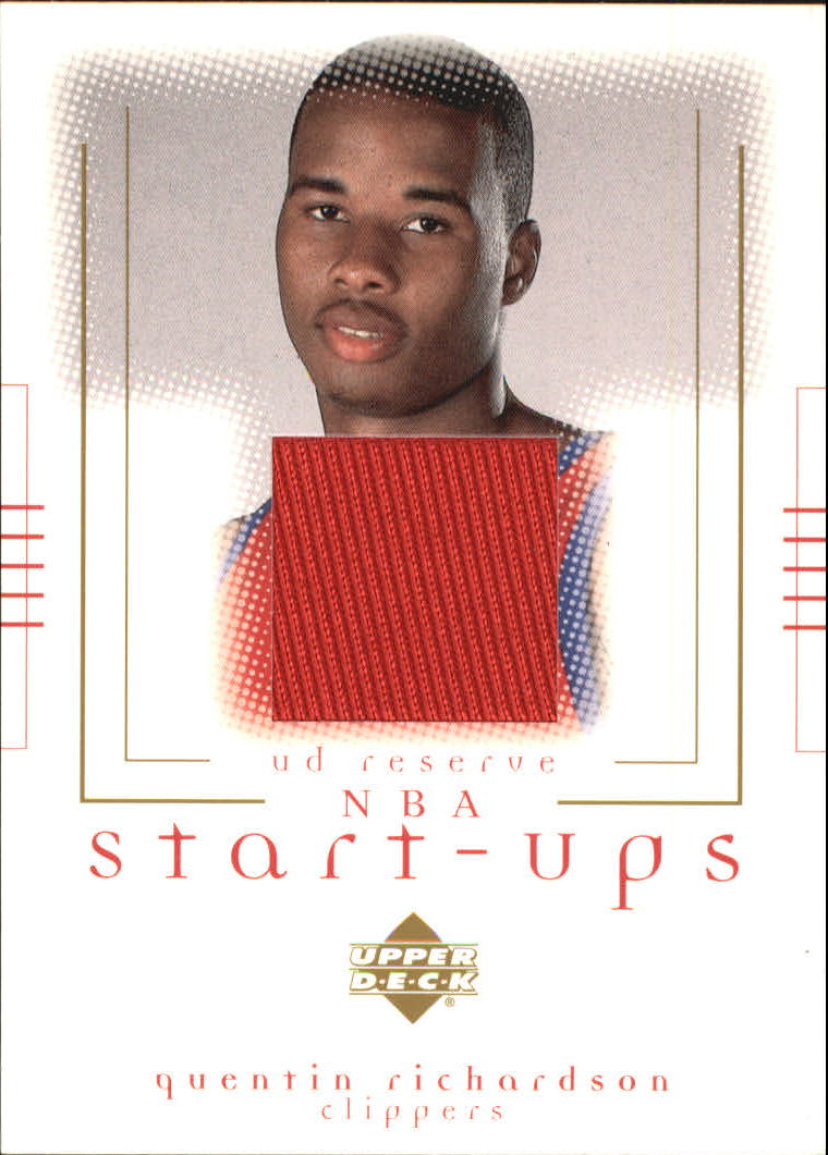 2000-01 UD Reserve NBA Start-Ups #QR Quentin Richardson