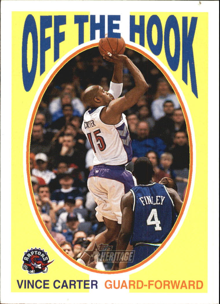 2000-01 Topps Heritage Off the Hook #OH2 Vince Carter