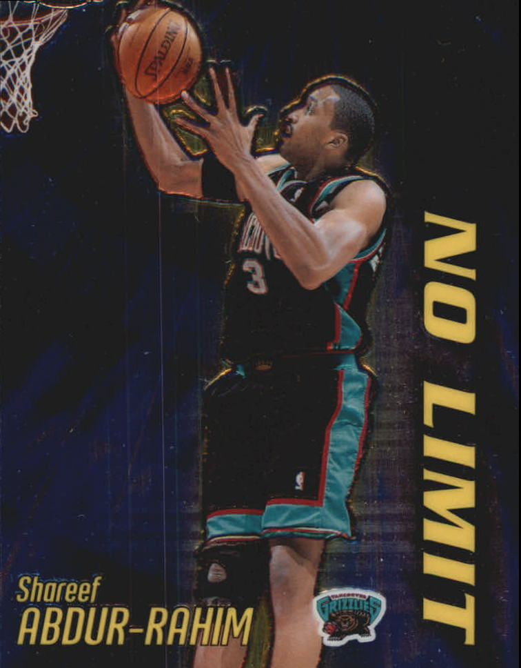 2000-01 Topps Chrome No Limit #NL10 Shareef Abdur-Rahim