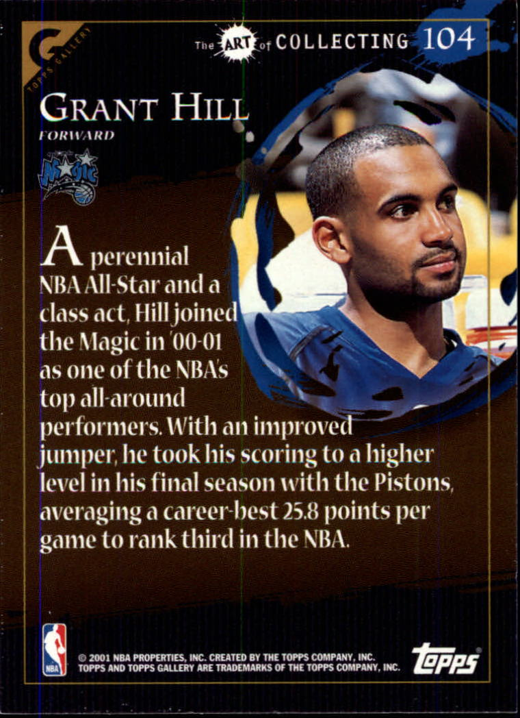 2000-01 Topps Gallery #104 Grant Hill MAS back image