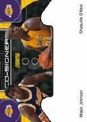 2000-01 Stadium Club Co-Signers #CS1 Magic Johnson/Shaquille O'Neal