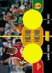 2000-01 Stadium Club Head to Head Game Jerseys #HH6 DerMarr Johnson/Paul Pierce