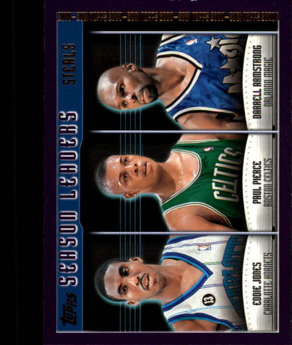 2000-01 Topps #153 Eddie Jones/Paul Pierce/Darrell Armstrong SL