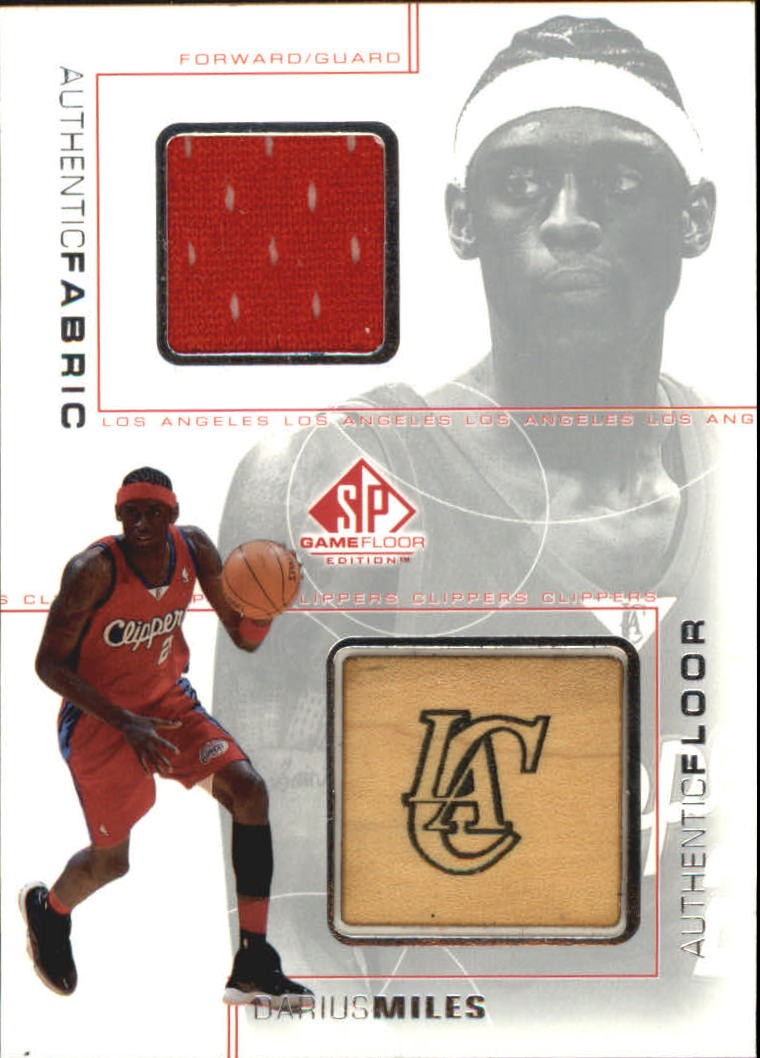 2000-01 SP Game Floor Authentic Fabric/Floor Combos #DMC Darius Miles