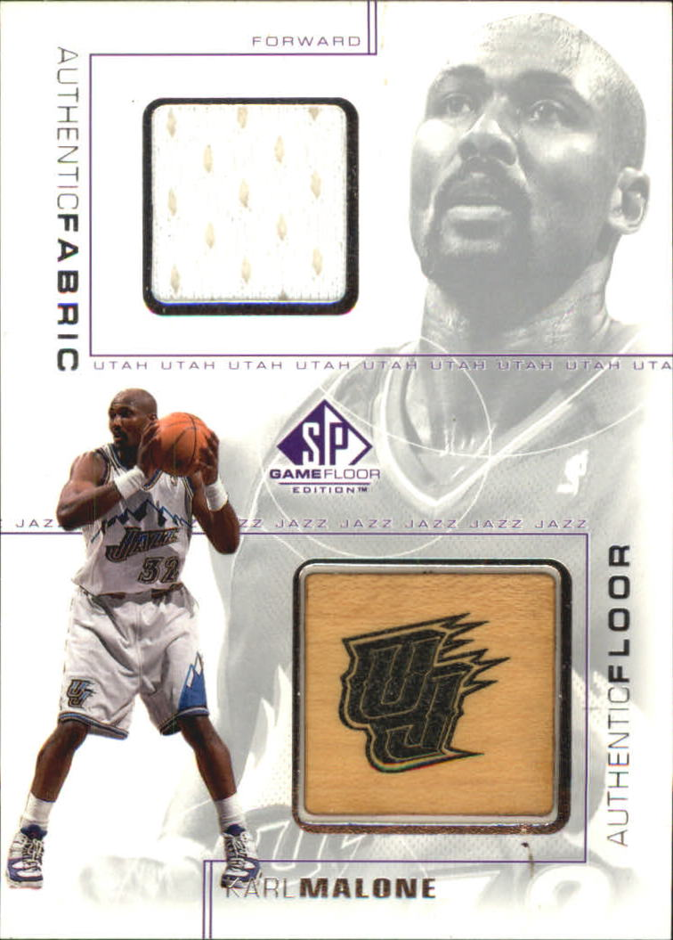 2000-01 SP Game Floor Authentic Fabric/Floor Combos #KAC Karl Malone