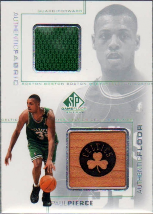 2000-01 SP Game Floor Authentic Fabric/Floor Combos #PPC Paul Pierce