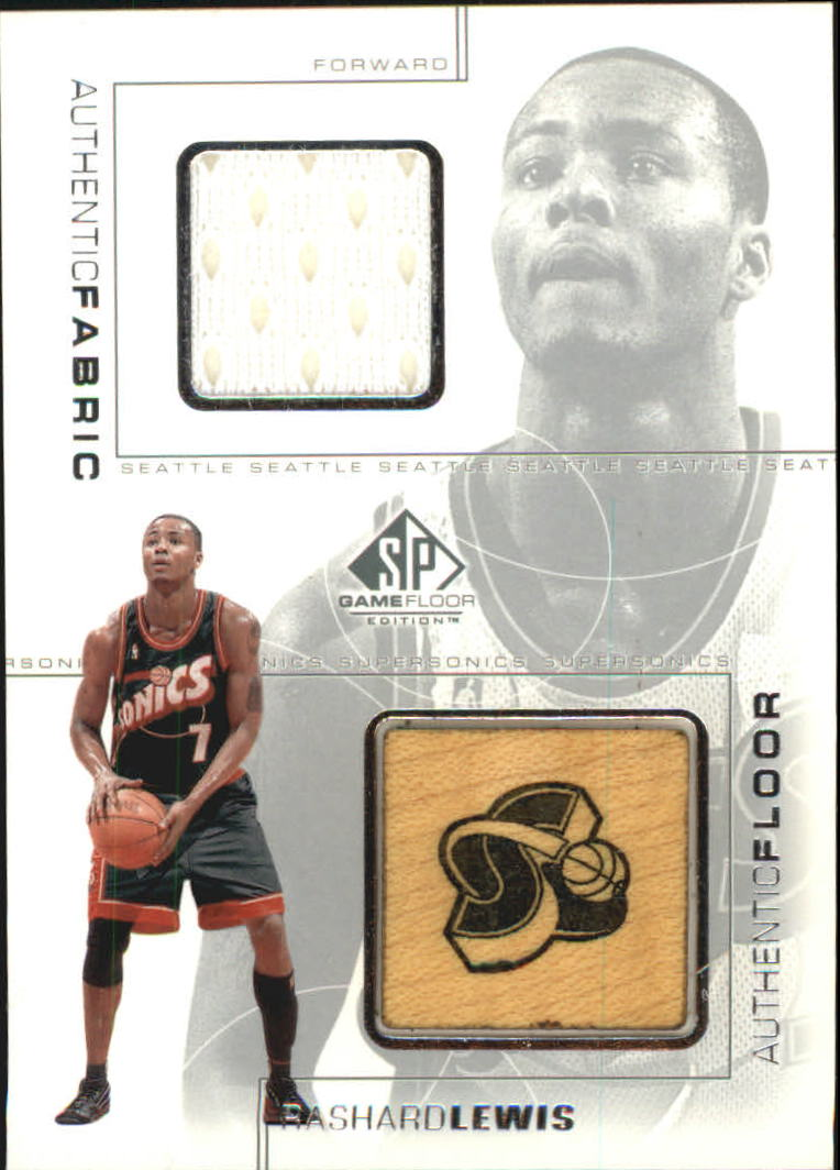 2000-01 SP Game Floor Authentic Fabric/Floor Combos #RLC Rashard Lewis