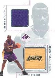2000-01 SP Game Floor Authentic Fabric/Floor Combos #SOC Shaquille O'Neal