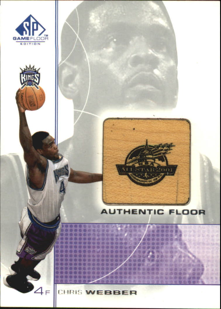 2000-01 SP Game Floor Authentic Floor #CW Chris Webber