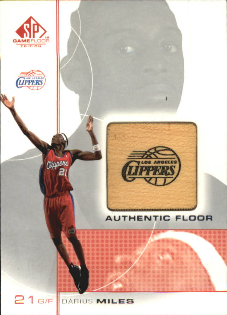 2000-01 SP Game Floor Authentic Floor #DM Darius Miles