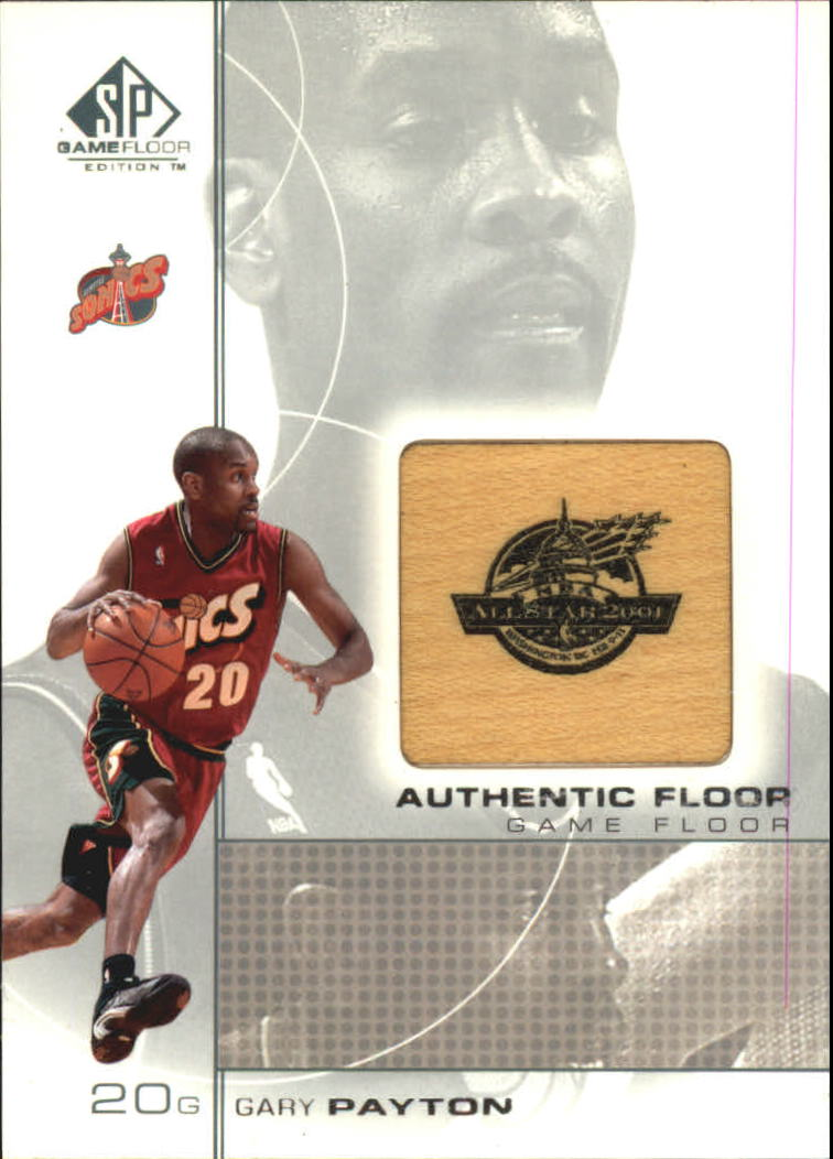 2000-01 SP Game Floor Authentic Floor #GP Gary Payton