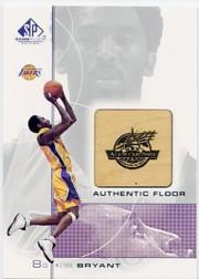 2000-01 SP Game Floor Authentic Floor #KB Kobe Bryant AS