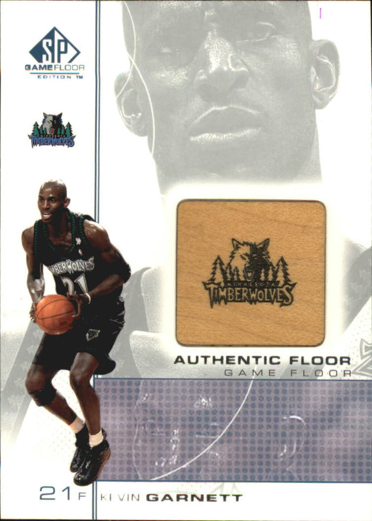 2000-01 SP Game Floor Authentic Floor #KG2 Kevin Garnett