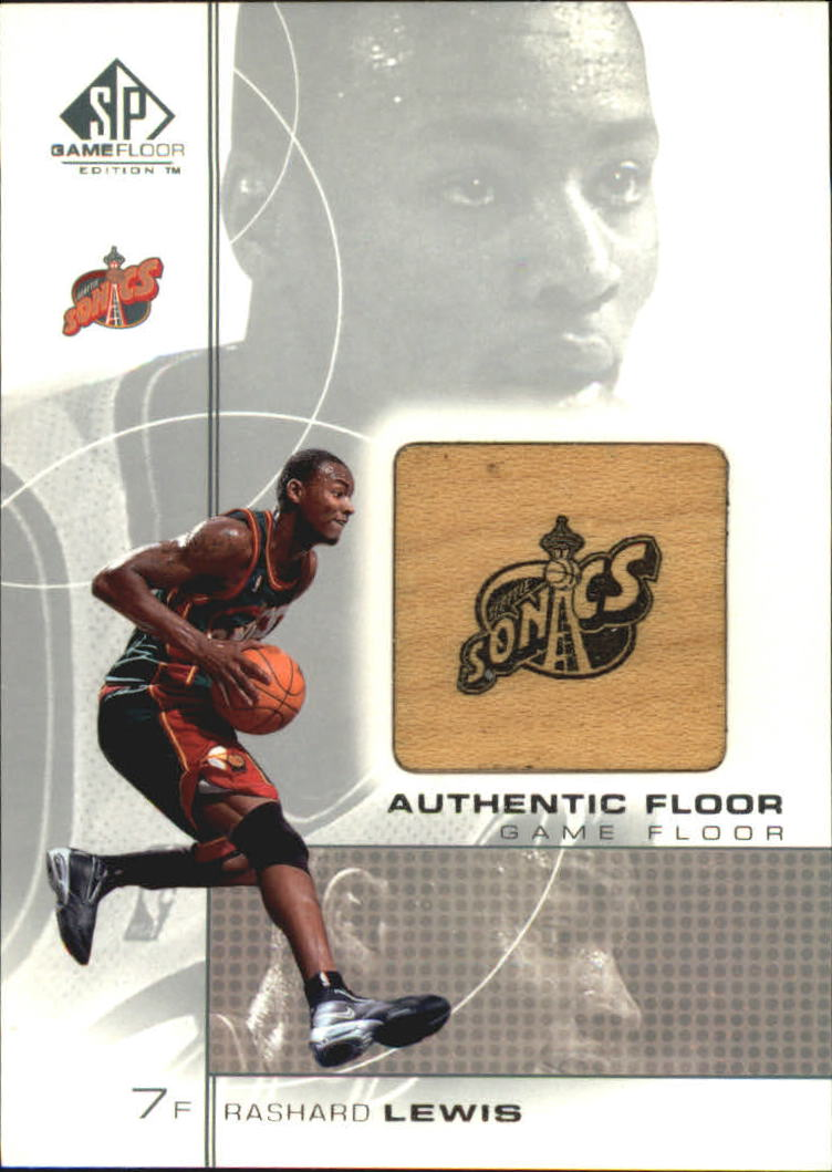 2000-01 SP Game Floor Authentic Floor #RL Rashard Lewis