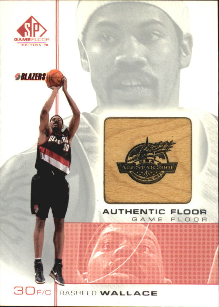 2000-01 SP Game Floor Authentic Floor #RW Rasheed Wallace AS