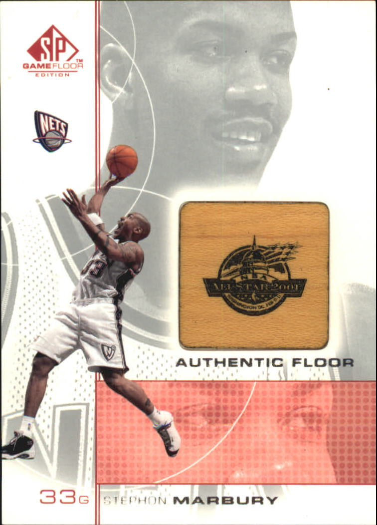 2000-01 SP Game Floor Authentic Floor #SM Stephon Marbury AS