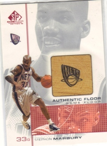 2000-01 SP Game Floor Authentic Floor #SM2 Stephon Marbury