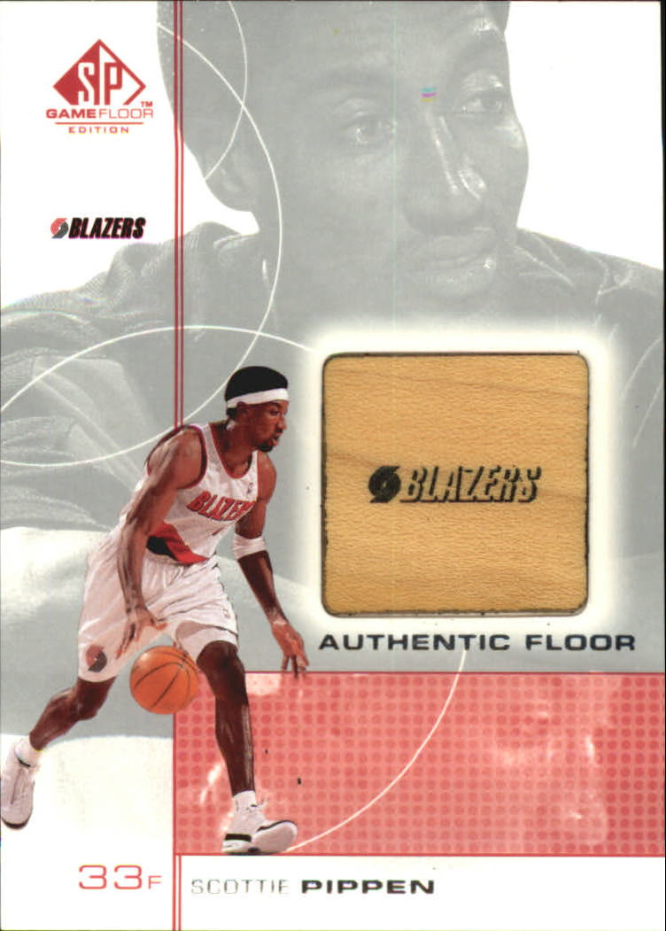 2000-01 SP Game Floor Authentic Floor #SP Scottie Pippen