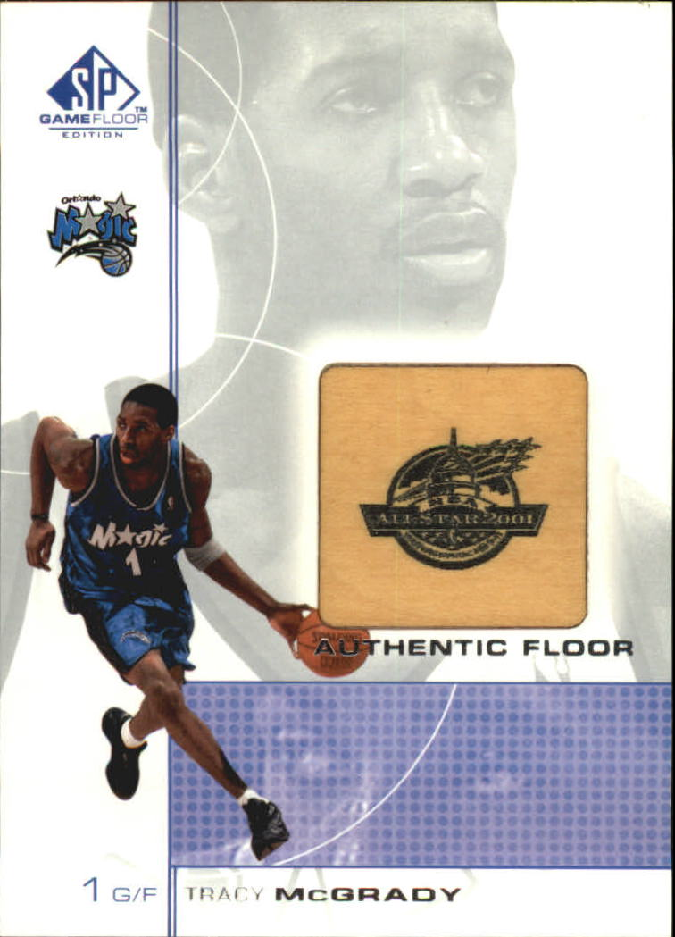 2000-01 SP Game Floor Authentic Floor #TM Tracy McGrady