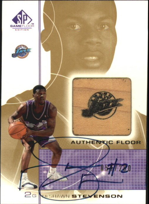 2000-01 SP Game Floor Authentic Floor Autographs #DSA DeShawn Stevenson/200