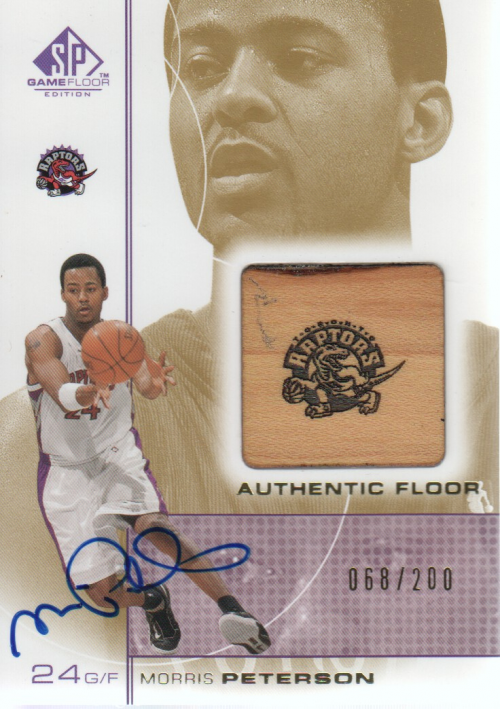 2000-01 SP Game Floor Authentic Floor Autographs #MPA Morris Peterson/200