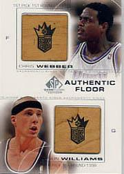 2000-01 SP Game Floor Authentic Floor Combos #C4 Chris Webber/Jason Williams