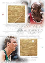 2000-01 SP Game Floor Authentic Floor Combos #C6 Michael Jordan/Larry Bird